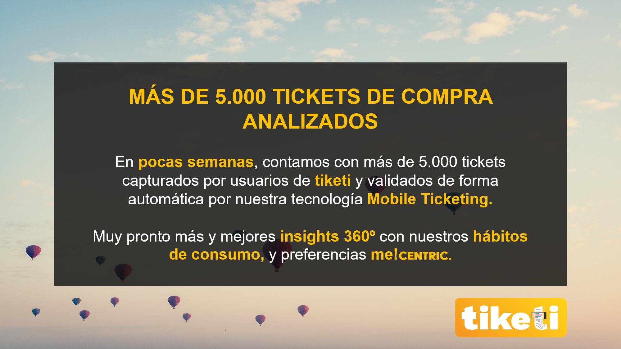 Más de 5000 tickets de compra analizados